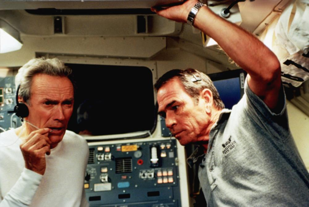 SPACE COWBOYS, Clint Eastwood, Tommy Lee Jones, 2000, communicating with Nasa